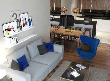 Пример отделки в ЖК Tatlin Apartments
